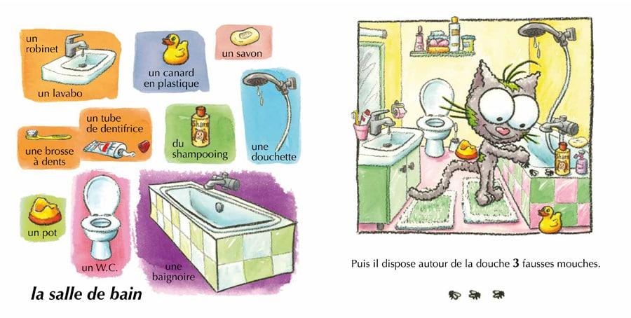 Livre cartonné l'imagier de la maison pour les bébés