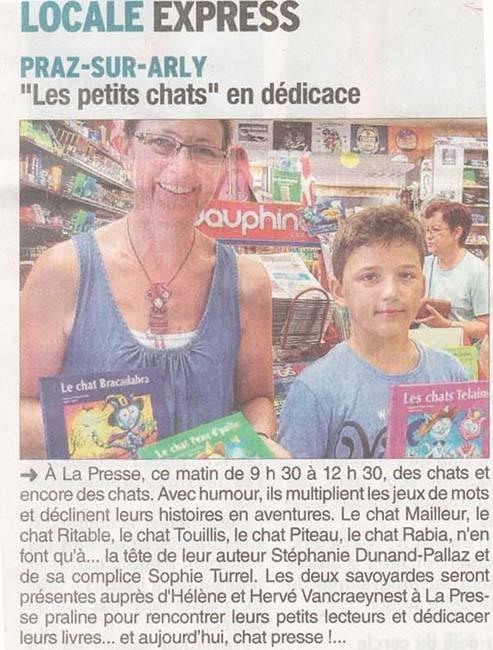 Praz sur Arly Le Dauphiné libéré 07:2015
