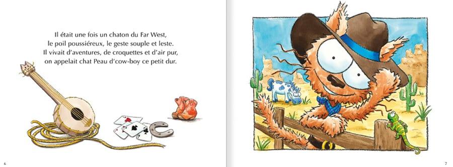 Feuilleter un extrait de l'album le chat Peau d'cow-boy
