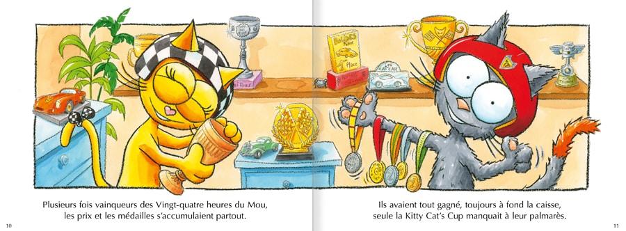 Feuilleter les pages 10 et 11 de l'album Les chats Peaud'roues