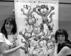 Stéphanie Dunand-Pallaz et Sophie Turrel autrice et dessinatrice de la série Les petits chats