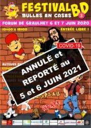 Affiche Festival Bulles en cases 2020