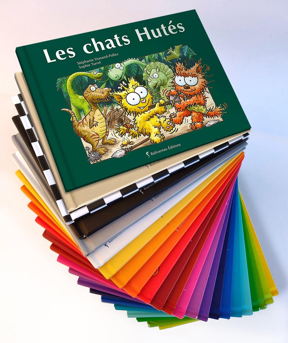 Eventails d'albums des petits chats avec Les chats Hutés